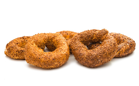 Bagels on a white background