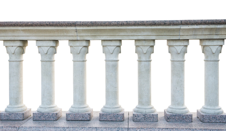 stone railings, isolated on a white background