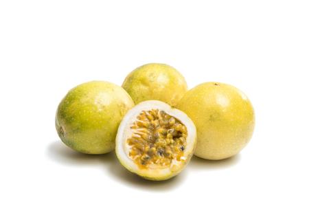grenadilla: passion fruit isolated on white background