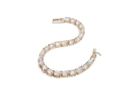 moonstone bracelet with a white background Stock Photo