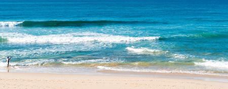 landscape of the Indian Ocean in Sri Lanka Stock Photo