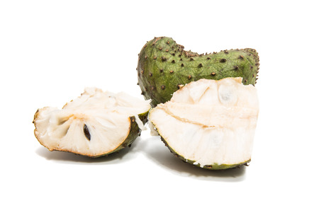 Soursop isolated on white background Stock Photo