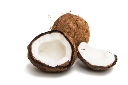 coconut isolated on white background Reklamní fotografie