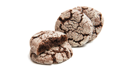 chocolate cookie isolated on white background