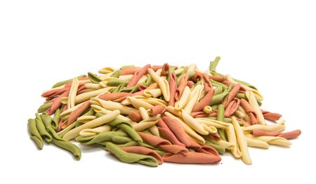 macarrones: Italian pasta isolated on white background Foto de archivo