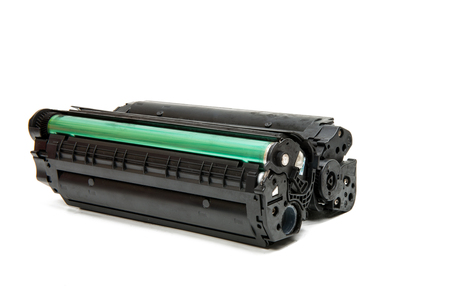 白い背景で隔離のレーザープリンター用カートリッジ 写真素材