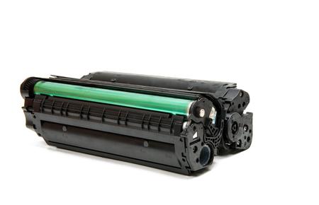 Patrone für Laserdrucker isoliert auf weißem Hintergrund Standard-Bild - 75915445
