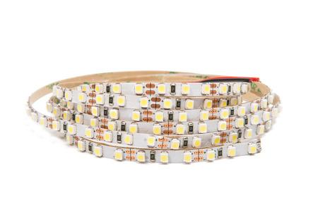 crystal background: LED tape isolated on white background