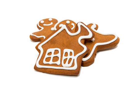 gingerbread man isolated on white background Stock Photo