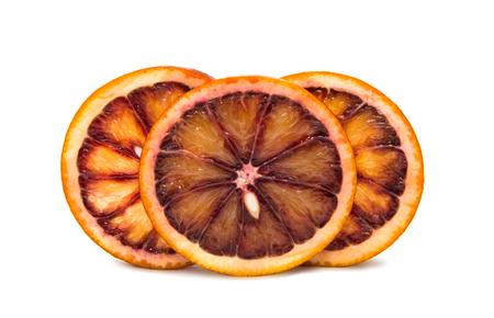 Bloody orange on white background