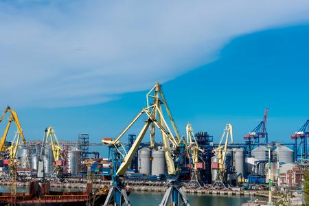 wharf: Sea Port of Odessa Black Sea Ukraine.