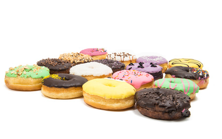 Set of donuts on a white background