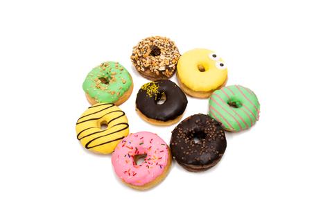 glazed donuts on a white background Stock Photo