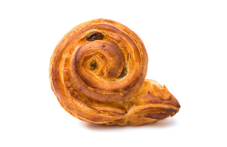 patty cake: Baked pastry on a white background Stock Photo