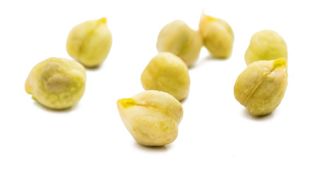 soya bean: Chickpea isolated on white background. Stock Photo