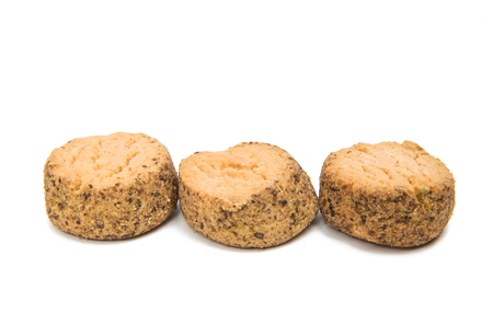Shortbread cookie isolated on white background