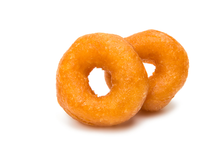 doughy: Small donuts isolated on white background