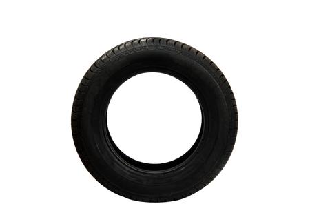 Tire wheel isolated on white background Stock Photo