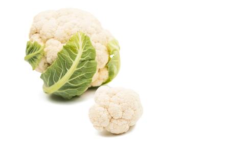 Cauliflower isolated on white background Stock Photo