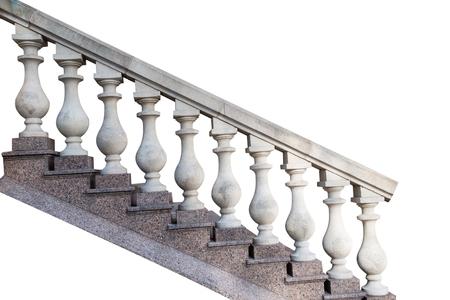 Stenen balustrades, geïsoleerd op een witte achtergrond Stockfoto - 83913912