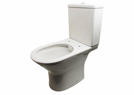 White toilet bowl isolated on white background Stock Photo