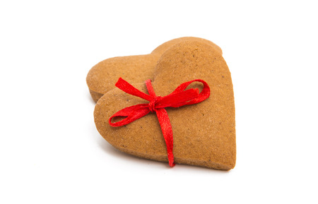 Christmas cookies heart on a white background