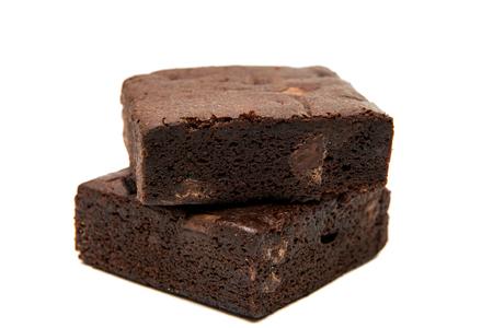 초콜릿 브라 우 니 화이트에 격리입니다.