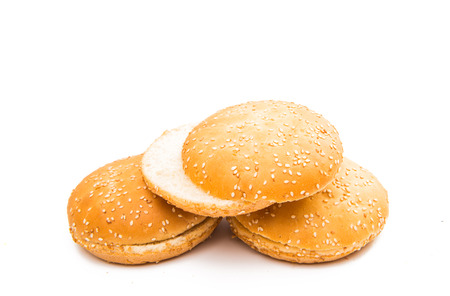 Burgers for a hamburger on a white background