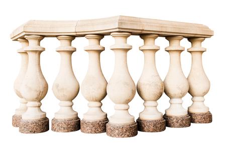 Steen relingen, geïsoleerd op een witte achtergrond Stockfoto - 86054188