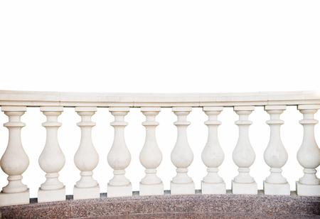 Steingeländer, isoliert auf weißem Hintergrund Standard-Bild - 86054264