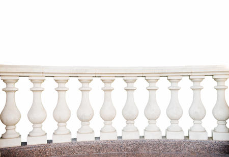 stone railings, isolated on a white background Zdjęcie Seryjne - 86054264