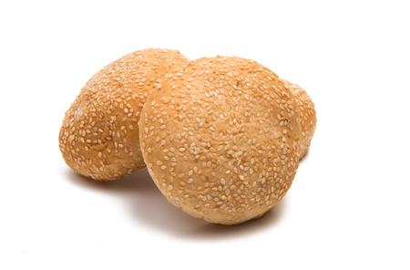 buns for hamburger isolated on white background