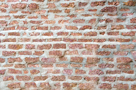 old wall with red brick