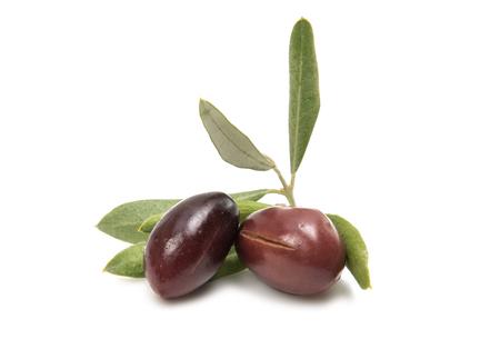 olives isolated on white background