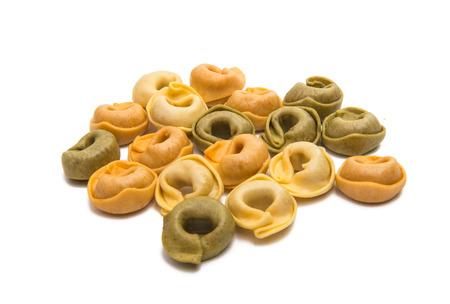 tortellini: Tortellini isolated on white background