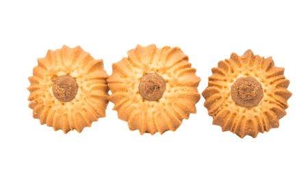 Cookie biscuit dessert isolated on white background