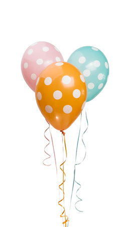 balloons in polka dots isolated on white background Stock Photo