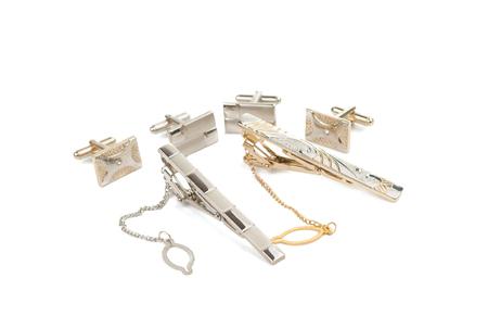 cufflinks isolated on white background Stock Photo