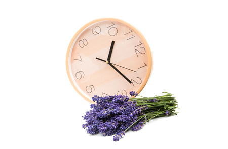 bouquet of lavender isolated on white background