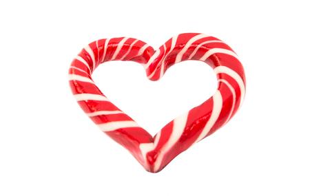 lollipop heart on a white background