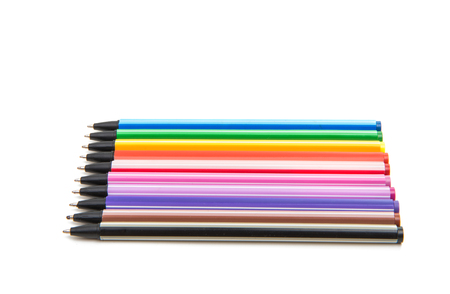 colored pens isolated on white background Stock Photo