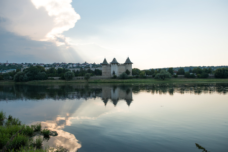 Ancient fortress in Soroca, Moldova, on the bank of the Dniester River Editorial