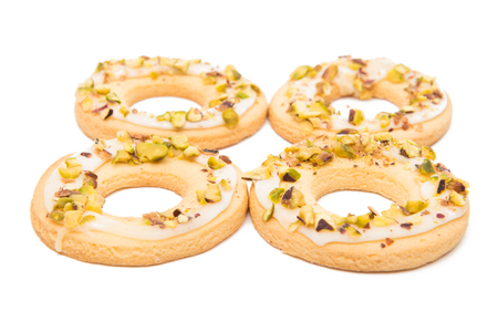 pistachio cookies isolated on white background Stock Photo