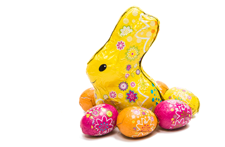 Easter bunny isolated on white background