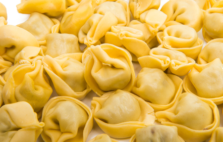 ravioli isolated on white background Stock Photo