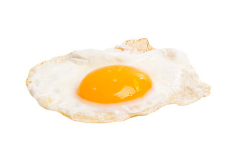 fried egg isolated on white background Stock Photo