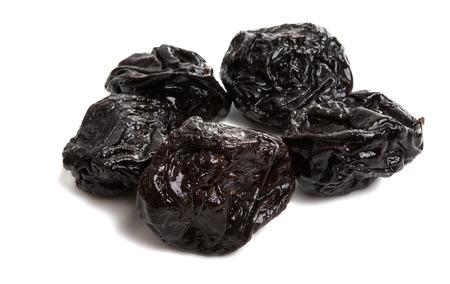 prunes isolated on white background Archivio Fotografico