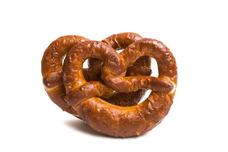 German pretzel isolated on white background Standard-Bild