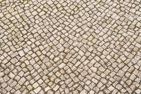 stone pavement background on sidewalks in Germany