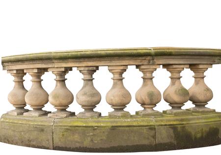 stone railing isolated on white background